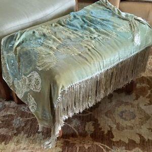 Luxury Designer Silk Velvet Throw Blanket